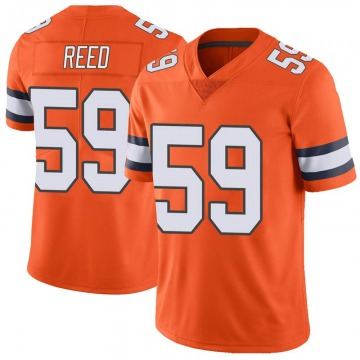 Youth Nike Denver Broncos Malik Reed Orange Color Rush Vapor Untouchable Jersey - Limited