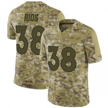 Youth Nike Denver Broncos Marcus Rios Camo 2018 Salute to Service Jersey - Limited