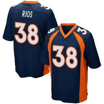 Youth Nike Denver Broncos Marcus Rios Navy Blue Alternate Jersey - Game