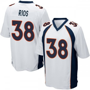 Youth Nike Denver Broncos Marcus Rios White Jersey - Game