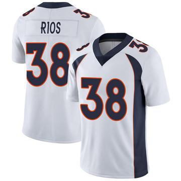 Youth Nike Denver Broncos Marcus Rios White Vapor Untouchable Jersey - Limited