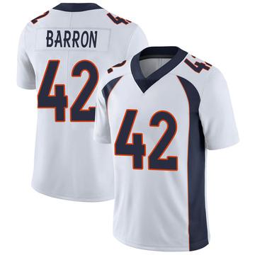 Youth Nike Denver Broncos Mark Barron White Vapor Untouchable Jersey - Limited