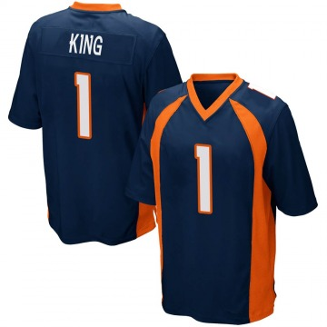 Youth Nike Denver Broncos Marquette King Navy Blue Alternate Jersey - Game
