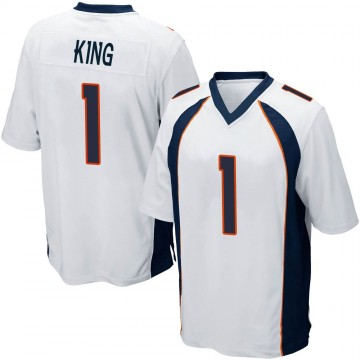 Youth Nike Denver Broncos Marquette King White Jersey - Game