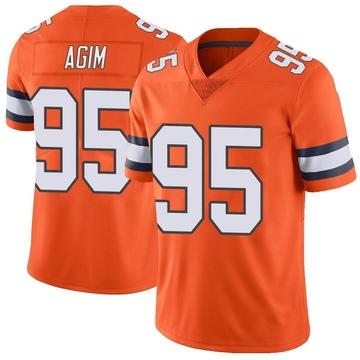 Youth Nike Denver Broncos McTelvin Agim Orange Color Rush Vapor Untouchable Jersey - Limited