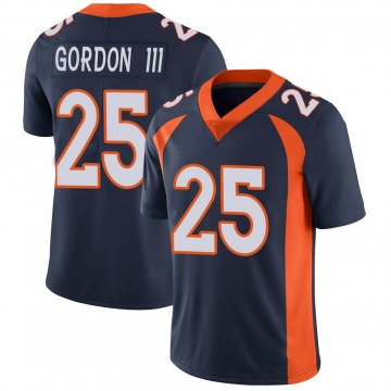 Youth Nike Denver Broncos Melvin Gordon Navy Vapor Untouchable Jersey - Limited