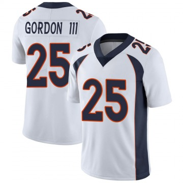 Youth Nike Denver Broncos Melvin Gordon White Vapor Untouchable Jersey - Limited