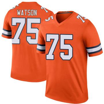 Youth Nike Denver Broncos Menelik Watson Orange Color Rush Jersey - Legend