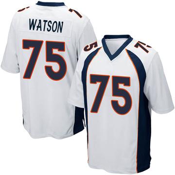 Youth Nike Denver Broncos Menelik Watson White Jersey - Game