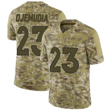 Youth Nike Denver Broncos Michael Ojemudia Camo 2018 Salute to Service Jersey - Limited