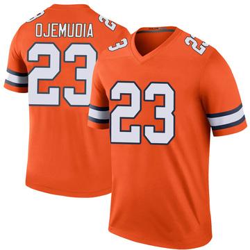 Youth Nike Denver Broncos Michael Ojemudia Orange Color Rush Jersey - Legend