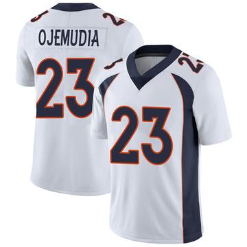 Youth Nike Denver Broncos Michael Ojemudia White Vapor Untouchable Jersey - Limited