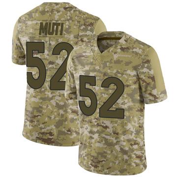 Youth Nike Denver Broncos Netane Muti Camo 2018 Salute to Service Jersey - Limited
