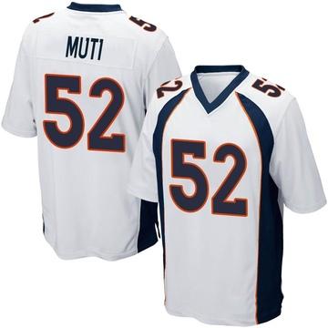 Youth Nike Denver Broncos Netane Muti White Jersey - Game