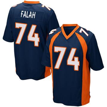 Youth Nike Denver Broncos Nico Falah Navy Blue Alternate Jersey - Game