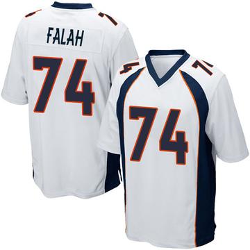 Youth Nike Denver Broncos Nico Falah White Jersey - Game