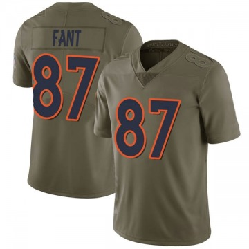 Youth Nike Denver Broncos Noah Fant Green 2017 Salute to Service Jersey - Limited