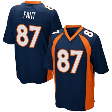 Youth Nike Denver Broncos Noah Fant Navy Blue Alternate Jersey - Game