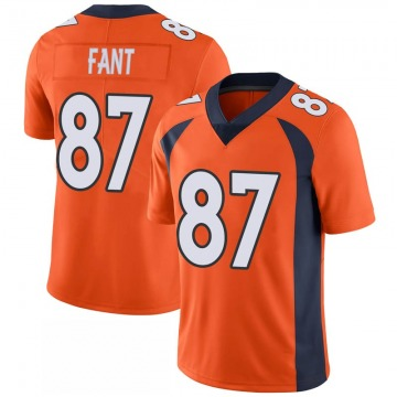 Youth Nike Denver Broncos Noah Fant Orange 100th Vapor Jersey - Limited