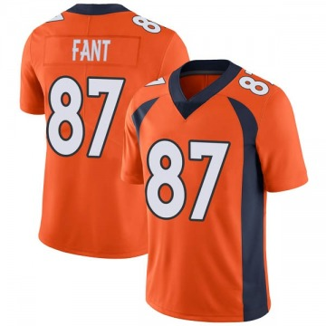 Youth Nike Denver Broncos Noah Fant Orange Team Color Vapor Untouchable Jersey - Limited