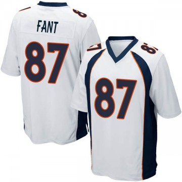 Youth Nike Denver Broncos Noah Fant White Jersey - Game