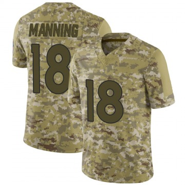 Youth Nike Denver Broncos Peyton Manning Camo 2018 Salute to Service Jersey - Limited