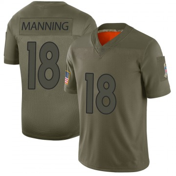 Youth Nike Denver Broncos Peyton Manning Camo 2019 Salute to Service Jersey - Limited