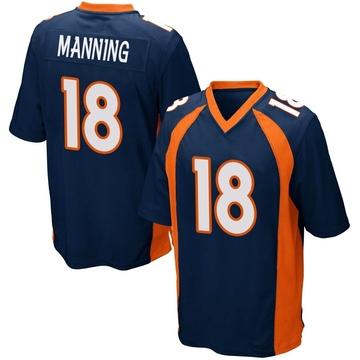 Youth Nike Denver Broncos Peyton Manning Navy Blue Alternate Jersey - Game