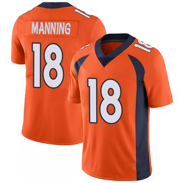 Youth Nike Denver Broncos Peyton Manning Orange 100th Vapor Jersey - Limited