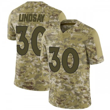 Youth Nike Denver Broncos Phillip Lindsay Camo 2018 Salute to Service Jersey - Limited