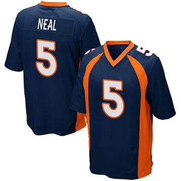 Youth Nike Denver Broncos Riley Neal Navy Blue Alternate Jersey - Game