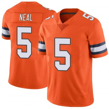 Youth Nike Denver Broncos Riley Neal Orange Color Rush Vapor Untouchable Jersey - Limited