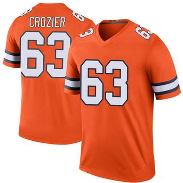 Youth Nike Denver Broncos Ryan Crozier Orange Color Rush Jersey - Legend