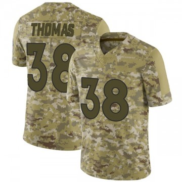Youth Nike Denver Broncos Shamarko Thomas Camo 2018 Salute to Service Jersey - Limited