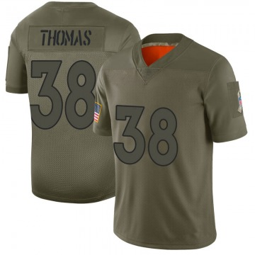 Youth Nike Denver Broncos Shamarko Thomas Camo 2019 Salute to Service Jersey - Limited