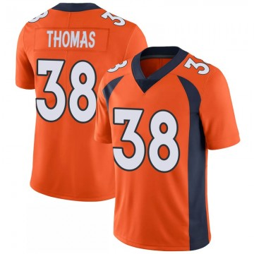Youth Nike Denver Broncos Shamarko Thomas Orange 100th Vapor Jersey - Limited