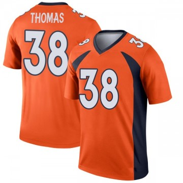 Youth Nike Denver Broncos Shamarko Thomas Orange Jersey - Legend
