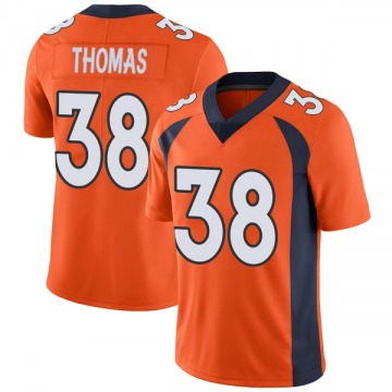 Youth Nike Denver Broncos Shamarko Thomas Orange Team Color Vapor Untouchable Jersey - Limited