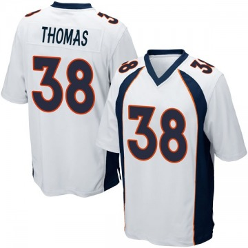 Youth Nike Denver Broncos Shamarko Thomas White Jersey - Game