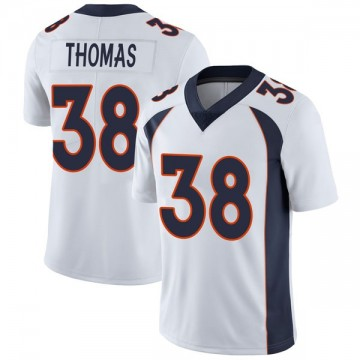 Youth Nike Denver Broncos Shamarko Thomas White Vapor Untouchable Jersey - Limited