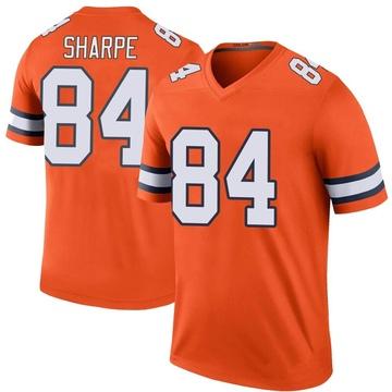 Youth Nike Denver Broncos Shannon Sharpe Orange Color Rush Jersey - Legend