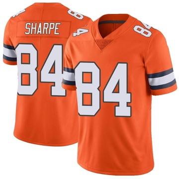 Youth Nike Denver Broncos Shannon Sharpe Orange Color Rush Vapor Untouchable Jersey - Limited