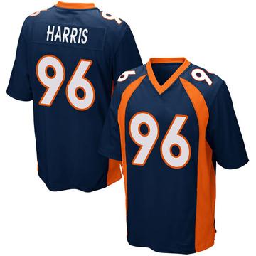 Youth Nike Denver Broncos Shelby Harris Navy Blue Alternate Jersey - Game