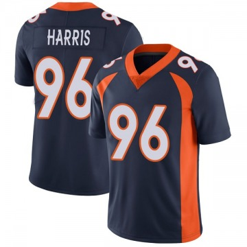 Youth Nike Denver Broncos Shelby Harris Navy Vapor Untouchable Jersey - Limited