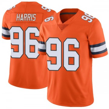Youth Nike Denver Broncos Shelby Harris Orange Color Rush Vapor Untouchable Jersey - Limited