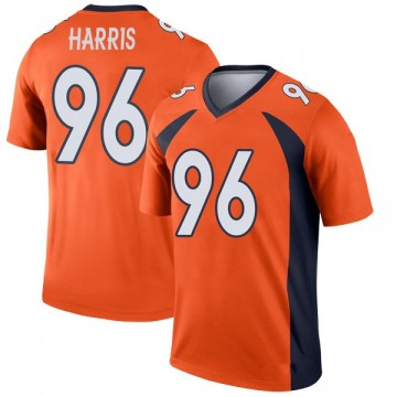 Youth Nike Denver Broncos Shelby Harris Orange Jersey - Legend