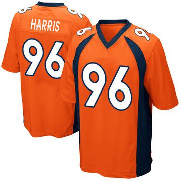 Youth Nike Denver Broncos Shelby Harris Orange Team Color Jersey - Game