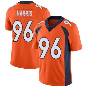 Youth Nike Denver Broncos Shelby Harris Orange Team Color Vapor Untouchable Jersey - Limited