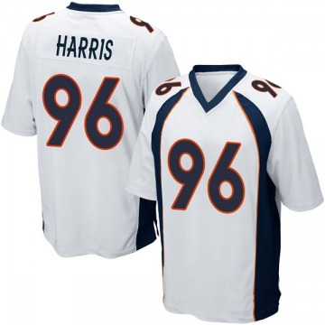 Youth Nike Denver Broncos Shelby Harris White Jersey - Game