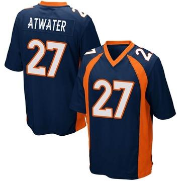 Youth Nike Denver Broncos Steve Atwater Navy Blue Alternate Jersey - Game